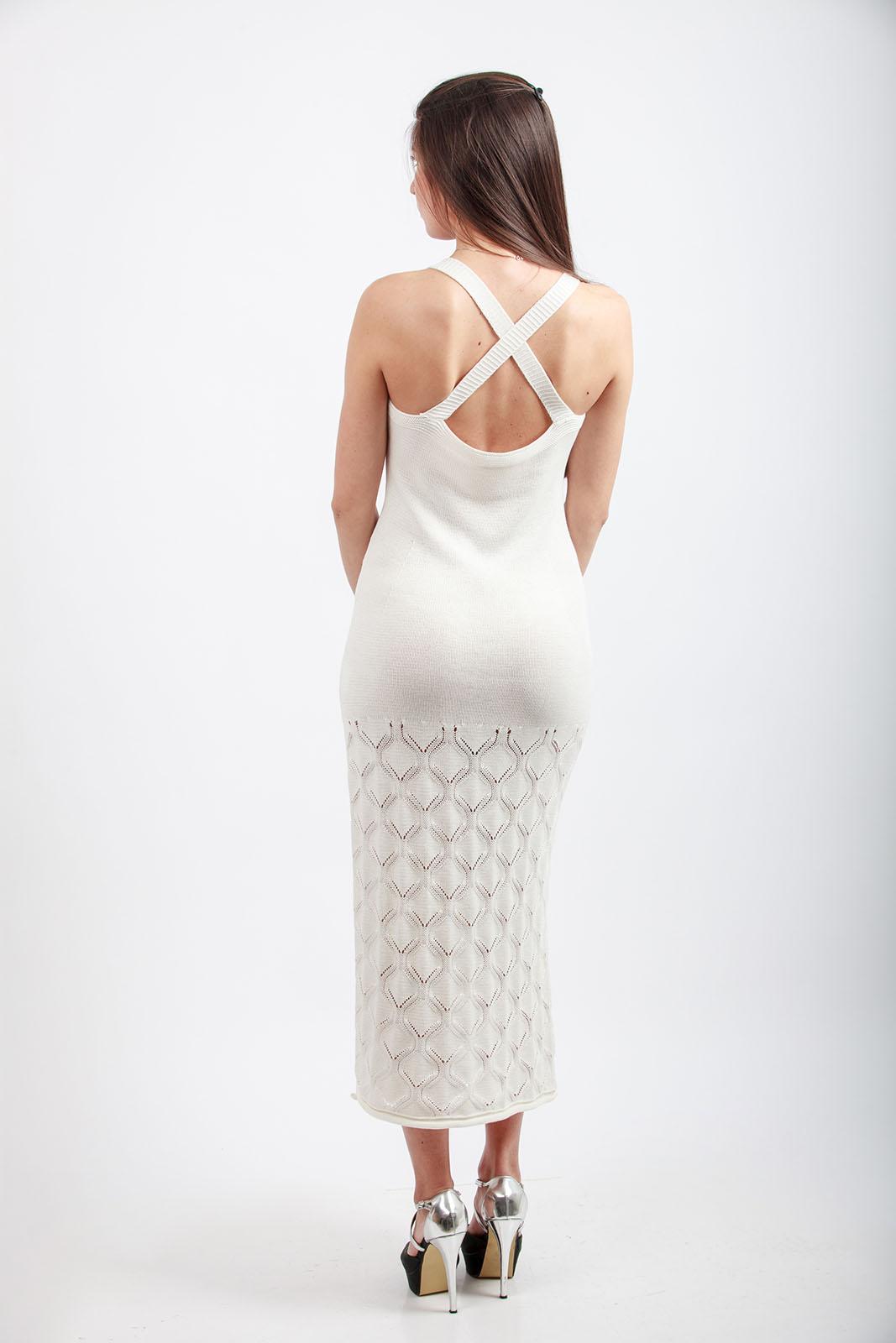 Дълга плетена рокля