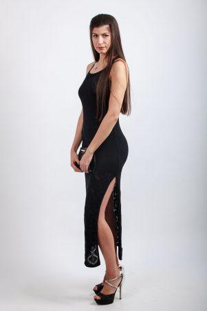 Вечерна плетена рокля