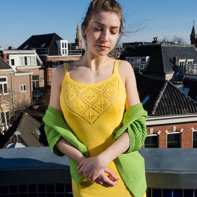 Къса рокля в ажур
