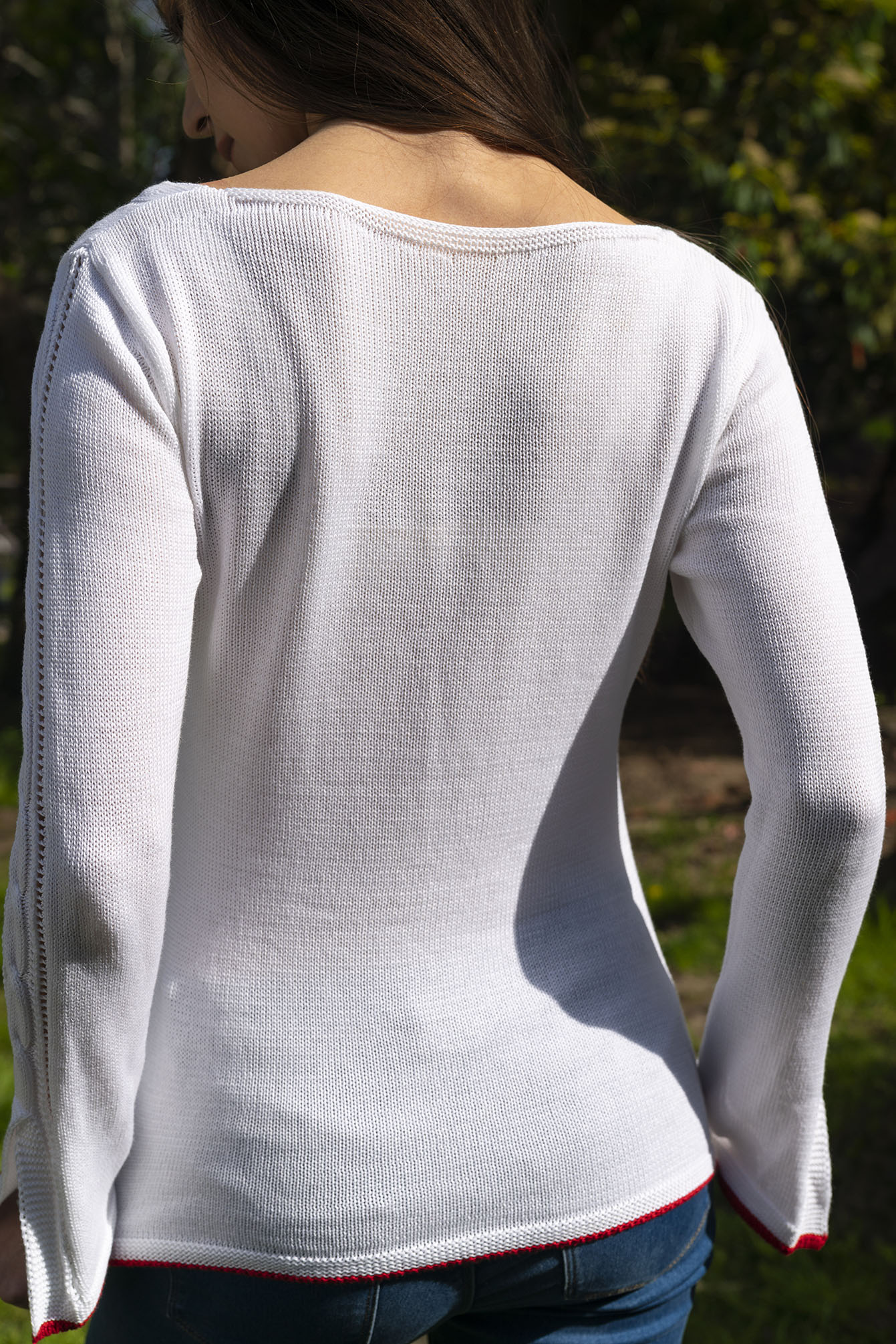 Пуловер Дорис в бяло