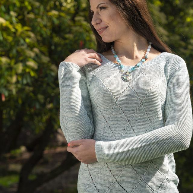 Пуловер Клео резеда