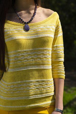 Пуловер Корделия в жълто