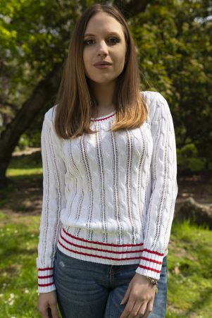 Пуловер Мери в бяло