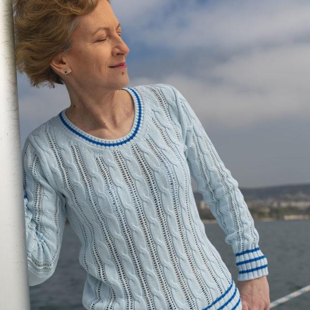 Пуловер Мери в синьо
