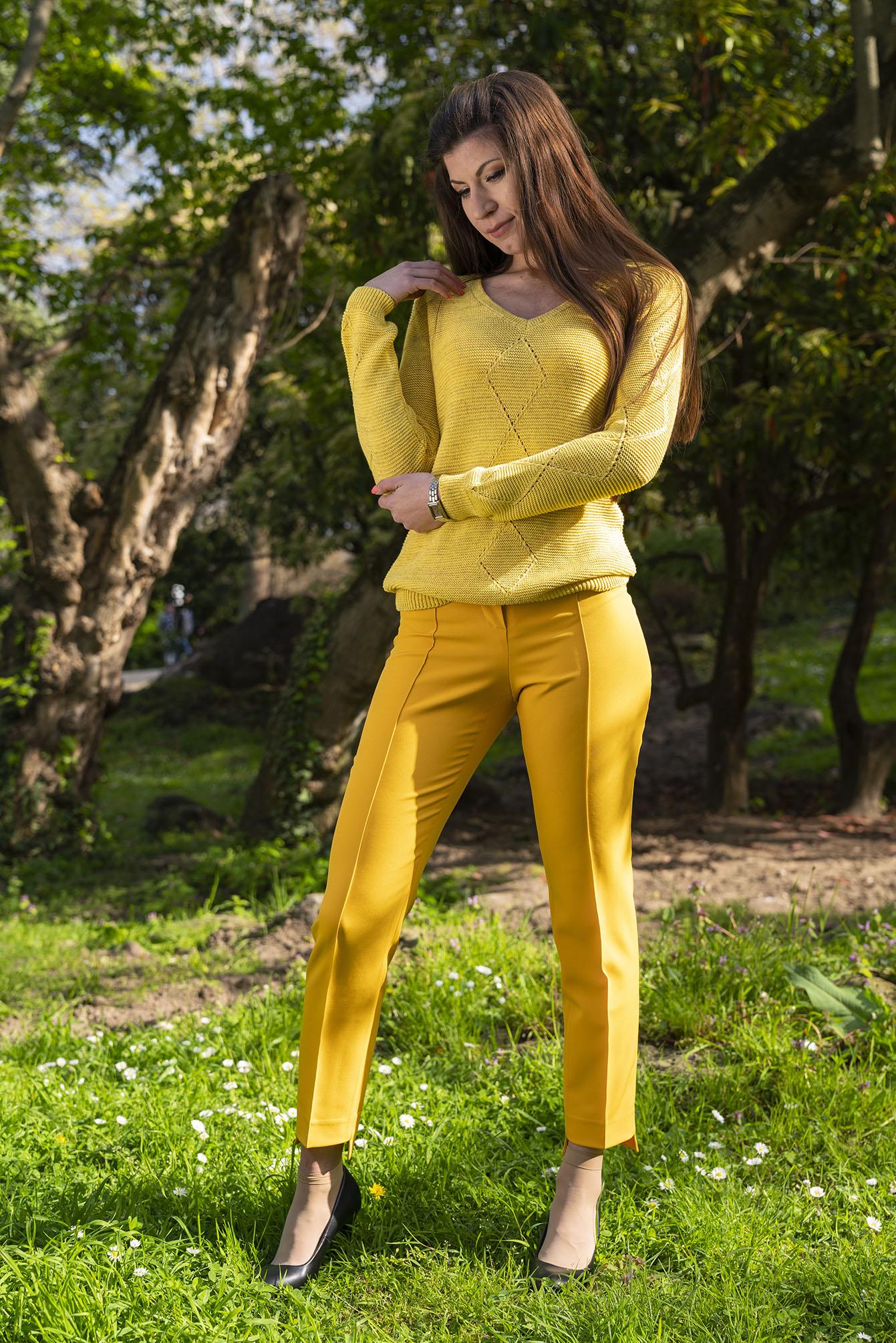 Пуловер Руби в жълто