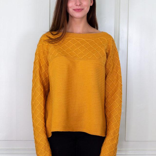 Пуловер Вили в оранжево