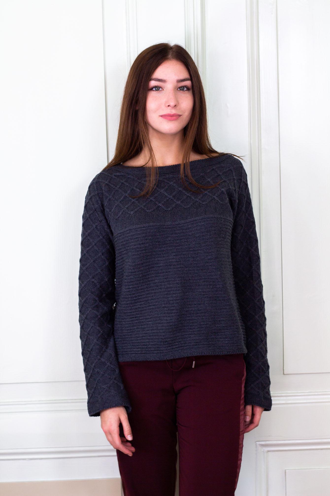 Пуловер Вили в сиво