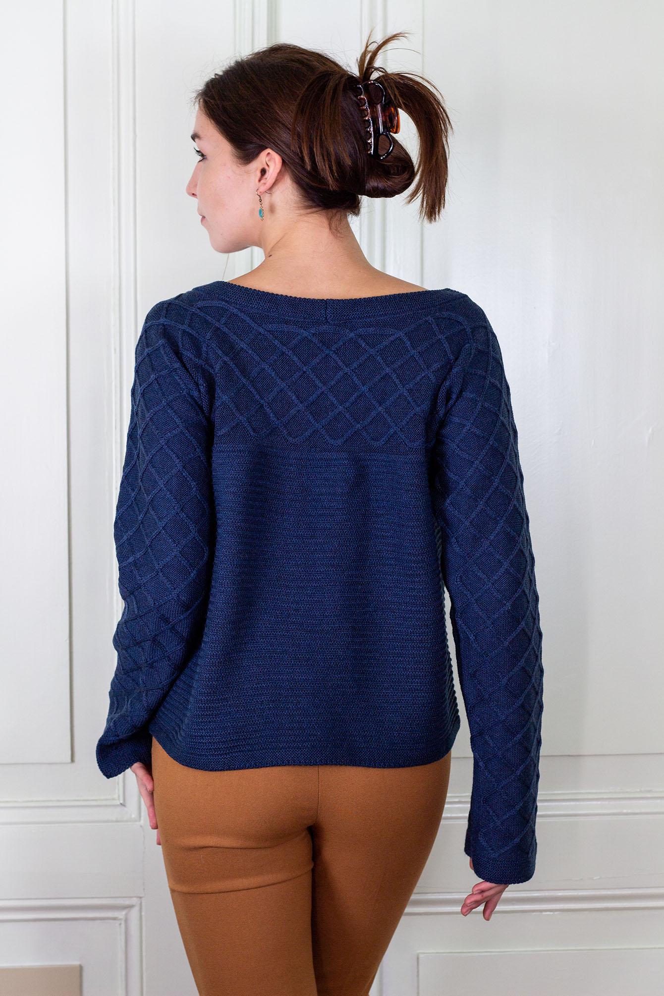 Пуловер Вили в синьо