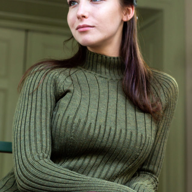 Пуловер Сузана в зелено