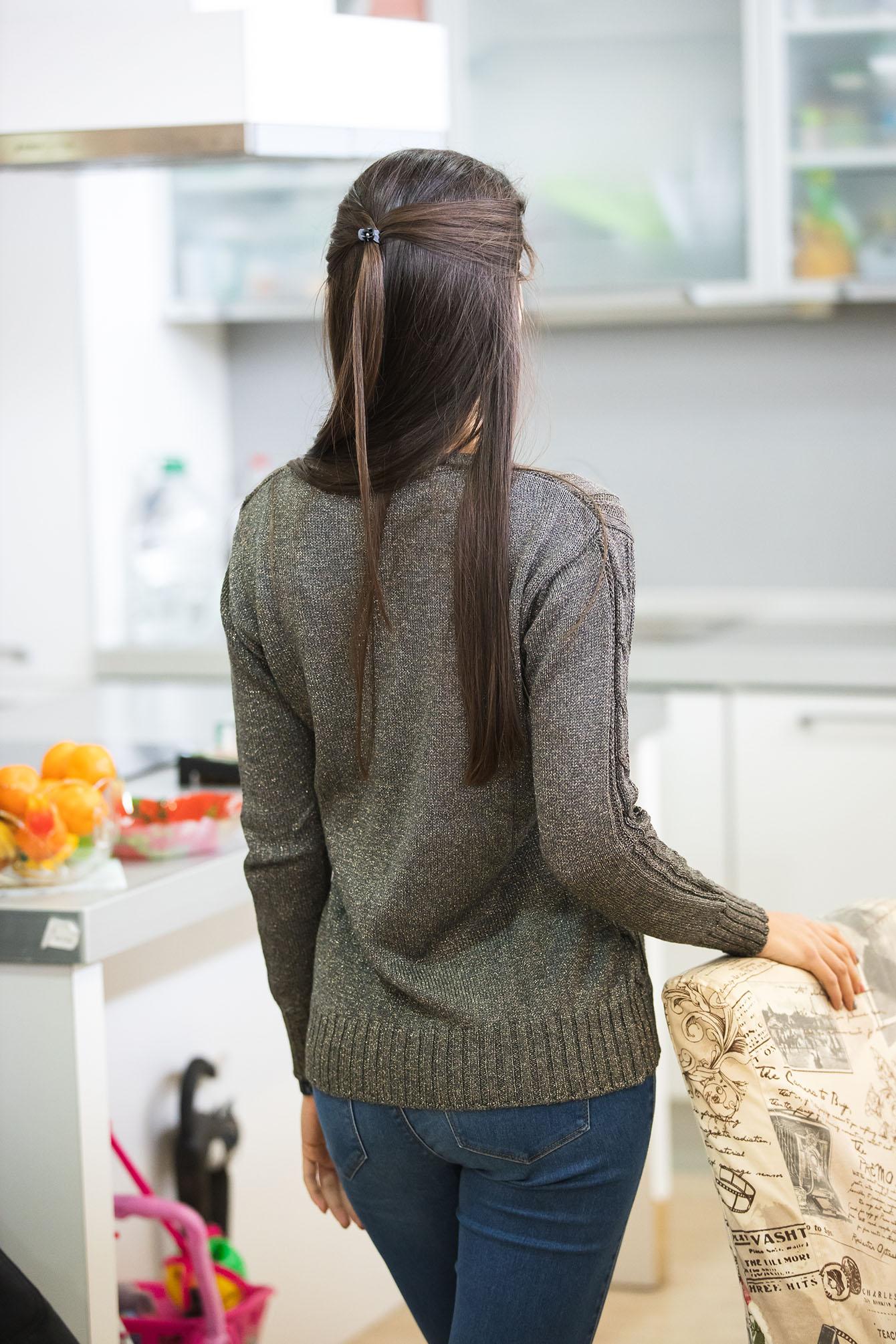 Пуловер Кали в сиво 3