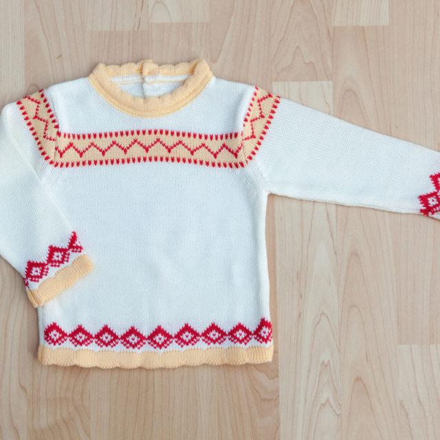 Бебешки пуловер за момиче