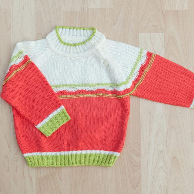Цветен пуловер