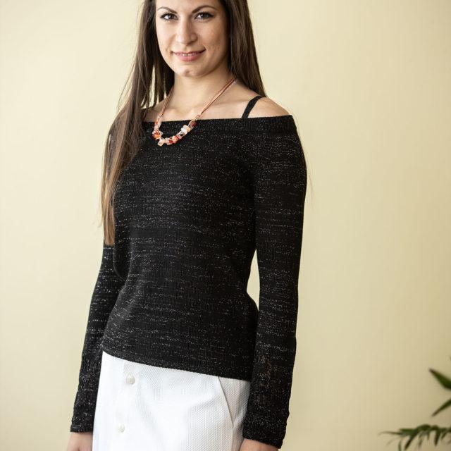 Пуловер Евелина в черно 01