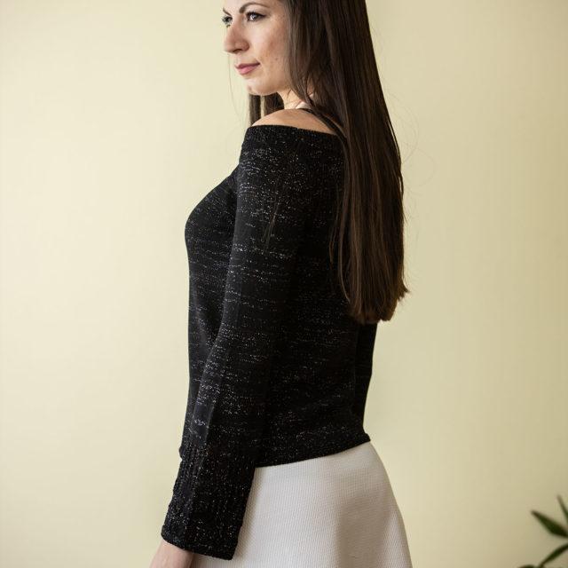 Пуловер Евелина в черно 02