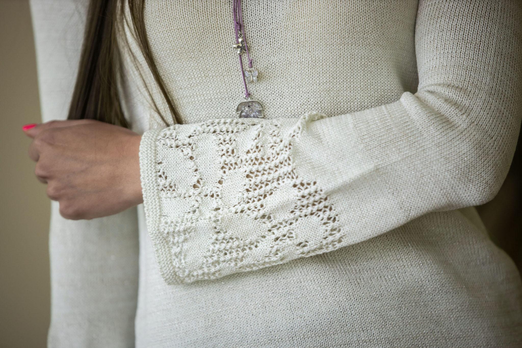 Пуловер Евелина цвят водна лилия 02