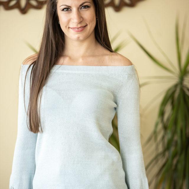 Пуловер Евелина цвят небесно синьо 01