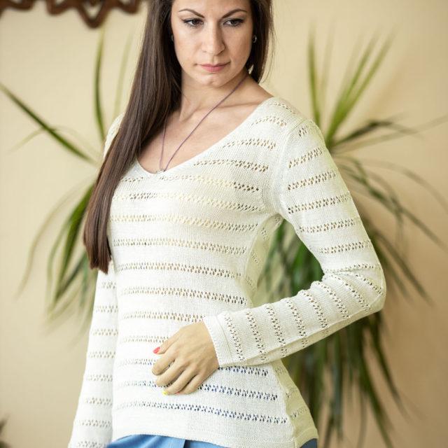 Пуловер Зора цвят водна лилия 01
