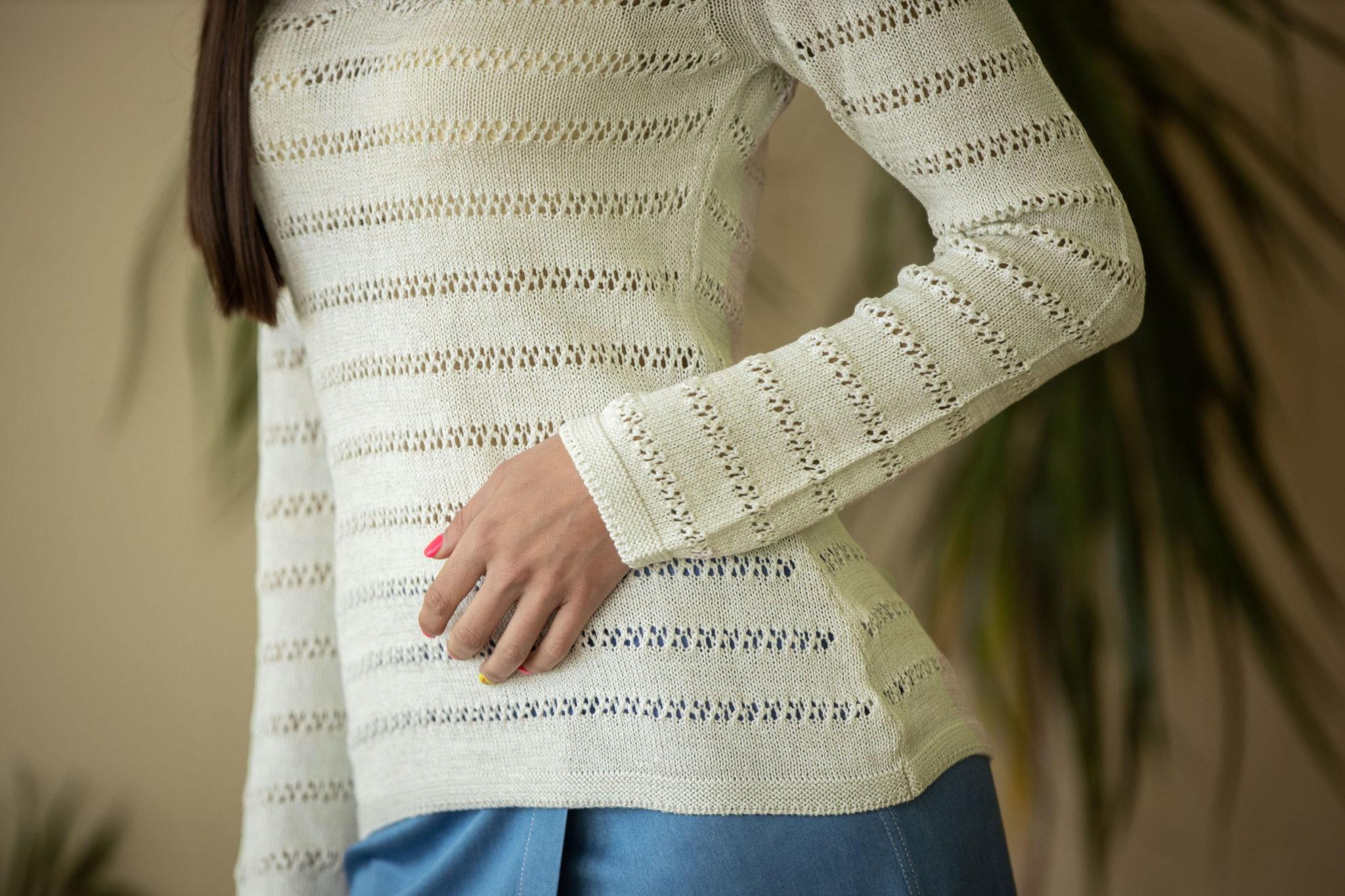 Пуловер Зора цвят водна лилия 02