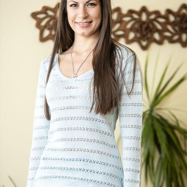 Пуловер Зора цвят небесно синьо 01