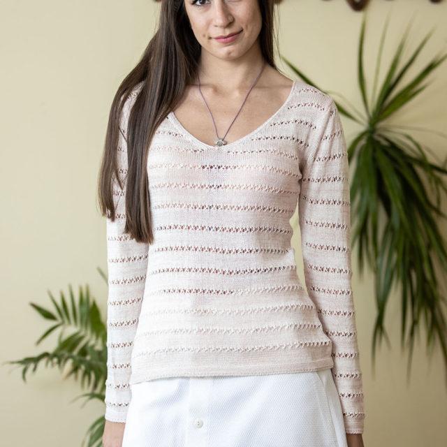 Пуловер Зора цвят праскова 01