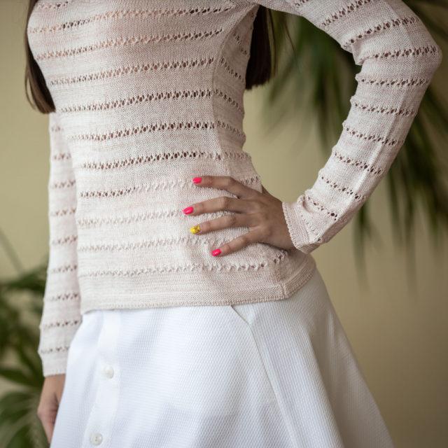 Пуловер Зора цвят праскова 02