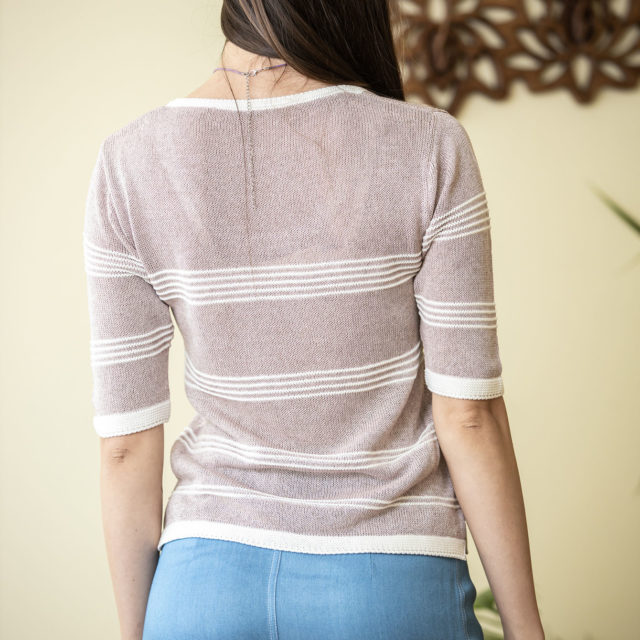 Пуловер Сияна цвят пепел от рози 02