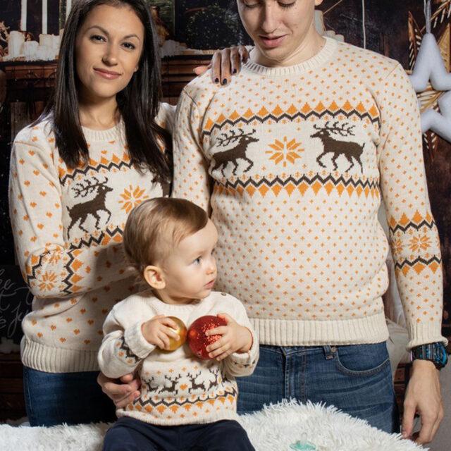 komplekt koledni puloveri za dvama