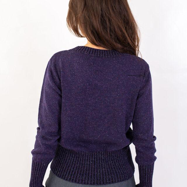 Пуловер с есенен мотив в лилаво-02